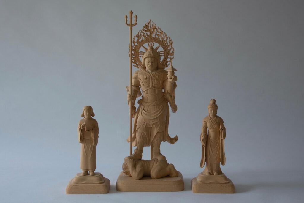 毘沙門天三尊像